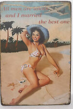 Plaque en tôle Nostalgie Publicité Tous men sont Déco à texte Rétro 20 30cm