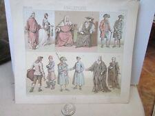 Vintage Print,ENGLISH OFFICIAL DRESS,Costumes Historiques,Chromo