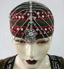 Bohemian Chain Head Piece Head Band Boho Wedding Gypsy Festival Costume Jewelry