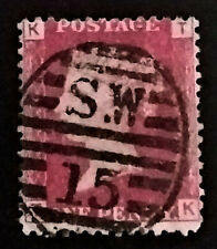 GB QV Penny Red  1858-79 1d  Letters TK   PR240  Free Registered Mail