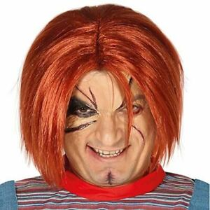Chucky Style Red Killer Doll Wig Halloween Fancy Dress Costume Accessory