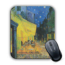 Cafe Terrace at Night Vincent Van Gogh High Quality Art Print MOUSE MAT Pad