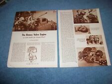 1955 Rotary Valve Engine Vintage Tech Info Article