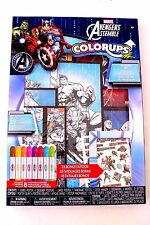 Marvel Avengers Assemble Colorups Activity Art Kit 7 Posters 8 Markers 25 Tatoos