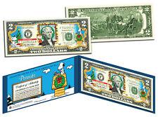 PEANUTS *Charlie Brown & Snoopy* CHRISTMAS Legal Tender U.S. $2 Bill *LICENSED*