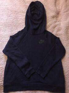 Nike Hoodie Purple Mens Medium Sweatshirt Pullover Full Logo Oversize Hooded