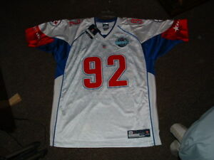 JAMES HARRISON #92 WHITE 2008 AFC PRO BOWL AUTHENTIC FOOTBALL JERSEY sz 52 NWT
