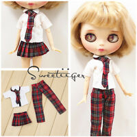 "【Tii】student outfit 12"" 1/6 doll Blythe/Pullip/azone/jerryb Clothes dress girl"