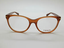 NEW Authentic COACH HC 6056 Betty 5251 Milky Saddle 51mm RX Eyeglasses