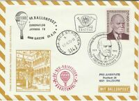 Austria 1973 Theodor Korner Slogan Cancel Balloon Post Stamps FDC Cover Ref28081