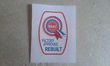 CLASSIC MINI COOPER S BMC WORKS FACTORY APPROVED REBUILT STICKER ST MPI 1275 998