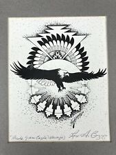 Rex A Begaye PRIDE OF AN EAGLE Navajo SIGNED ART PRINT 1989 Native American