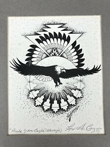 Rex A Begaye PRIDE OF AN EAGLE Navajo SIGNED ART PRINT 1989 Native American