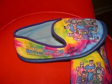 Vintage OG 1990 New Kids On The Block House Shoes Slippers Kids Cartoon Nice