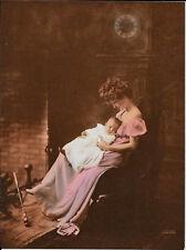 James Arthur, Hand Colored, Baby & Mother, Salesman Sample Calendar Print 1910