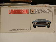 Lamborghini Espada Sale Brochure, Fold Out Poster