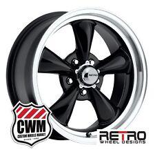 "17 inch 17x7"" Retro Black Wheels Rims 5x4.50"" for Ford Cars 1959-1979"