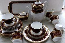 Heinrich Villeroy&Boch Empress Kaffeeservice 6 Personen Bone China