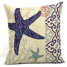 "Starfish Throw Pillow Case Decorative Cushion Cover Blue Ocean Series 18 ""X18"""
