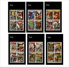 THOR  MARVEL SUPERHEROES 10 SOUVENIR SHEETS MNH UNPERFORATED