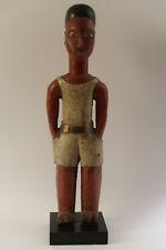 Statue ancienne tribal ethnique Africain Afrique Côte d'Ivoire Colon 1950