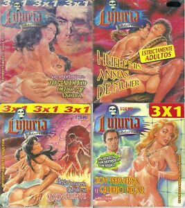 Lot of (4) LUJURIA MORTAL FUNNY SPICY SEXY GIRLS MEXICAN COMIC