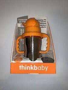 Thinkbaby Stainless Steel Thinkster Bottle, Orange (9 oz - 260ml ) Baby Gifts