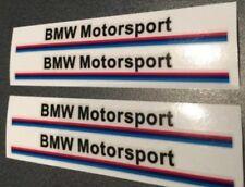 4x BMW Motorsport Aufkleber Neu Tuning Logo Auto Sticker Schwarz Seiten Ausenspi