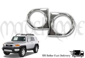 Chrome Headlight Covers for 2007-2014 Toyota FJ Crusier *amazing look!*