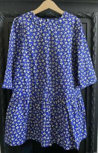 Girls Bonpoint Blue squirrel print Cotton dress BNWT Age 10 years RRP € 110