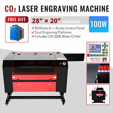 Omtech 100w 28x20 Co2 Laser Engraver Cutter Engraving Machine With Water Chiller