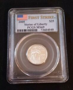 2005 $25 Statue of Liberty - Platinum American Eagle PCGS MS69
