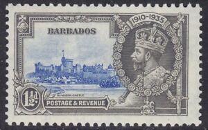 BARBADOS 1935 SG242 1½d ULTRAMARINE & GREY SILVER JUBILEE UNMOUNTED MINT
