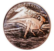1 oz Copper Round - Parasaurolophus