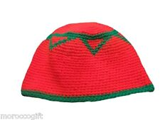 Handcrafted Moroccan Muslim Hat Headgear for Men with Moroccan flag