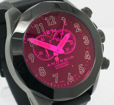 Mens Android AD454 Euxine 2 Chronograph Purple Lens 50mm Black Rubber Watch
