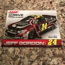 """Jeff Gordon No. 24 2014 AARP/Drive to End Hunger Chevy SS 8"""".5x11"""" Hero Card"""