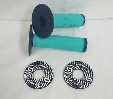 Scott SX2 Handlebar Grips -BLUE/TEAL- with DONUTS Motocross MX SXII