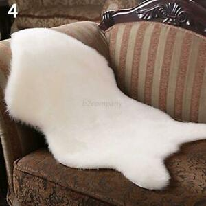 Soft Sheepskin Plain Fluffy Skin Faux Fur Fake Rug Cheap Washable Mat Rugs New