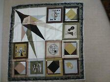 Emilio Scarf Geometric pattern Japanese motif