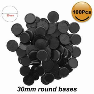 100pcs 30mm Lipped Round Model Bases For Gaming Miniatures Plastic Wargames