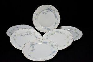 Rosenthal Monbijou - Jugendstil alt - Teller 6x Speiseteller blaue Blume