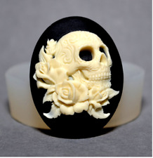 Gothic Skull Silicone Mold Mould for cake Icing decoration Halloween  M223
