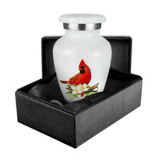Peace and Harmony Beautiful Red Cardinal Small Keepsake Urn - Qnty 1 - with Case