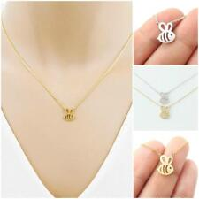 Tiny Elegant Lovely Women Small Bee Gold Silver Cute Short Necklace Present Gift