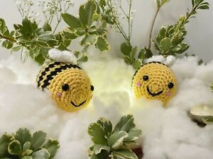 Crochet Amigurumi Bumble Bee, Stuffed Bee Plush Toy, TikTok Bee FREE SHIPPING!