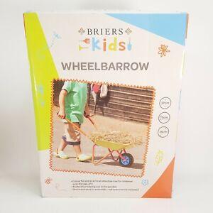 BRIERS Kids Childrens Garden Activity Fun Metal Wheelbarrow