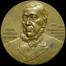 SÜDAFRIKA / TRANSVAAL: Bronze-Medaille 1900, Scharff. PAUL KRUGER - BURENKRIEG.