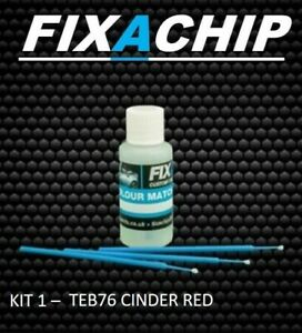 DACIA CAR TOUCH UP PAINT - CODE TEB76 - CINDER RED (KIT 1)