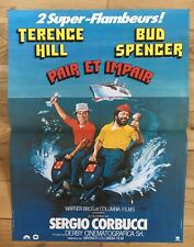 terence hill bud spencer  PAIR ET IMPAIR 40x60 - sergio corbucci affiche Neuve